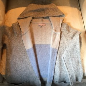 Made in Italy beautiful hooded wool sweater